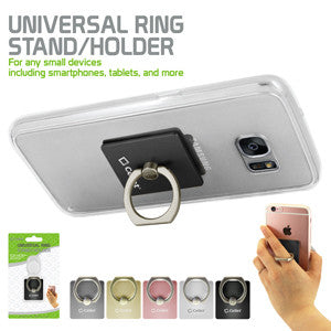 Cellet Universal Ring Stand/Holder for any Small Devices including Smartphones, Tablets, and More - Black - Mobile Accessories USA