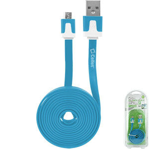 Cellet 4 Ft. Flat Wire Micro USB Charging/Data Cable -Blue - Mobile Accessories USA