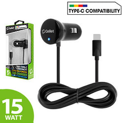 Cellet 15 Watt / 3 Amp USB Type-C High Powered Car Charger for LG G5, Nexus 5X, Nexus 6P, Nokia Lumia 950/950 XL, OnePlus 2, Samsung Galaxy Note 7 - Mobile Accessories USA