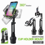 Cellet Adjustable Automobile Extended Cup Holder Mount for iPhones, iPods, Smartphones, MP3 Players, GPS Systems - Mobile Accessories USA