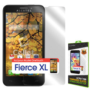 Cellet Premium Tempered Glass Screen Protector for Alcatel OneTouch Fierce XL - Mobile Accessories USA