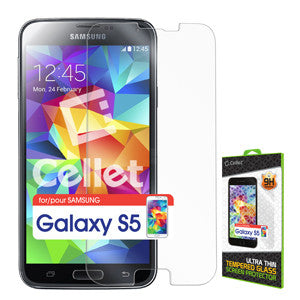 Cellet Premium Tempered Glass Screen Protector for Samsung Galaxy S5 (0.3mm) - Mobile Accessories USA