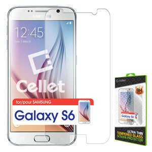 Cellet Premium Tempered Glass Screen Protector for Samsung Galaxy S6 (0.3mm) - Mobile Accessories USA