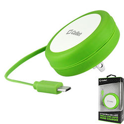 Cellet Cord Keeper 5Watt (1Amp) Micro USB Home Wall Charger - Green - Mobile Accessories USA