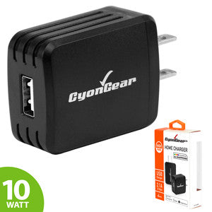 CyonGear 10W / 2.1 Amp Hi-Powered USB Home Charger - Black - Mobile Accessories USA