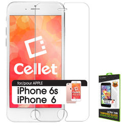 Cellet Premium Tempered Glass Screen Protector for Apple iPhone 6 & 6s (0.3mm) - Mobile Accessories USA