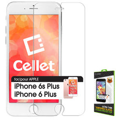 Cellet Premium Tempered Glass Screen Protector for Apple iPhone 6 Plus & 6s Plus (0.3mm) - Mobile Accessories USA