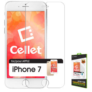 iPhone 7 Screen Protector, Cellet Premium Tempered Glass Screen Protector for Apple iPhone 7 (0.3mm) - Mobile Accessories USA