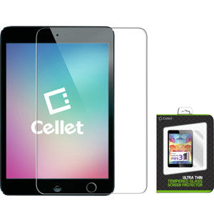 Cellet Premium 9H Tempered Glass Screen Protector for iPad mini 1/2/3 (0.3mm) - Mobile Accessories USA
