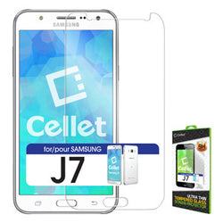 Samsung J7 Tempered Glass Screen Protector, Cellet 0.33mm Premium Tempered Glass Screen Protector for Samsung J7 (9H Hardness) - Mobile Accessories USA