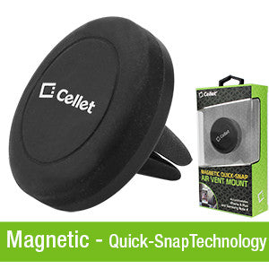 Cellet Extra Strength Magnetic (with Quick-Snap Technology) Car Vent Smartphone Holder - Mobile Accessories USA