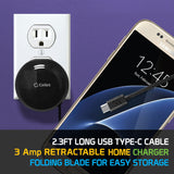 Cellet High Powered 2.4A/12W Retractable Micro USB Home Charger for Android Devices - Mobile Accessories USA