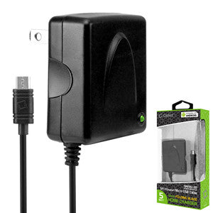 Cellet Black micro USB Travel & Home Charger W/ Folding Blade - Mobile Accessories USA