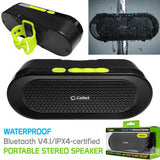 Cellet BeatBot Rechargeable Bluetooth V4.1 Speaker with Built-In Bike Mount - Neon Green - Mobile Accessories USA