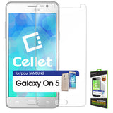 Samsung Galaxy On 5 Tempered Glass Screen Protector, Cellet 0.33mm Premium Tempered Glass Screen Protector for Samsung Galaxy On 5 (9H Hardness) - Mobile Accessories USA