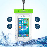 Cellet Universal IPX8 Waterproof Case for Apple iPhone 7 Plus, 6s Plus, Samsung Galaxy S7 edge, Large Smartphones, Digital Cameras, MP3 Players and More - Orange - Mobile Accessories USA
