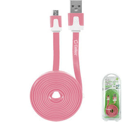 Cellet 4 Ft. Flat Wire Micro USB Charging/Data Cable -Pink - Mobile Accessories USA