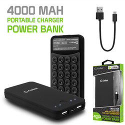 Cellet 2-Port 4000mAh Portable Charger Power Bank - Black - Mobile Accessories USA