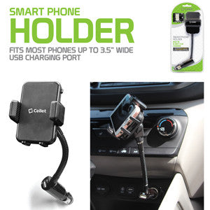 Smartphone mount, Cellet Smartphone Holder with Built-In 10W/2.1A USB Charging Port - Mobile Accessories USA