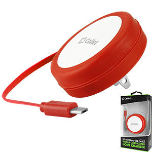 Cellet Cord Keeper 5Watt (1Amp) Micro USB Home Wall Charger - RED - Mobile Accessories USA