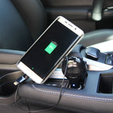 Cellet 3 ft. 2.1A/10W Retractable 2 in 1 Combo Micro USB and Lightning Car Charger - Black - Mobile Accessories USA