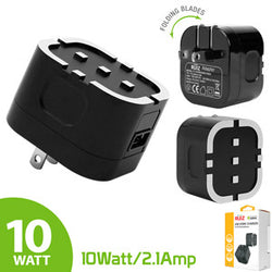 RUIZ by Cellet High Powered 2.1A (10W) USB Home Wall Charger-Black - Mobile Accessories USA