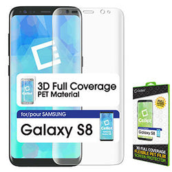 S8 Screen, Cellet Full Coverage Flexible PET Film Screen Protector for Samsung Galaxy S8 - Mobile Accessories USA