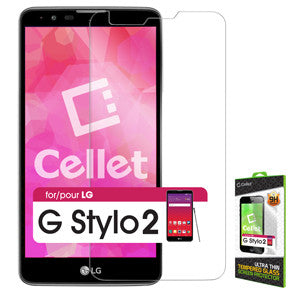 LG G Stylo 2 Tempered Glass Screen Protector, Cellet 0.33mm Premium Tempered Glass Screen Protector for LG G Stylo 2 (9H Hardness) - Mobile Accessories USA