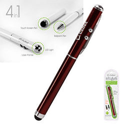 Cellet Red Stylus 4 in 1 Laser Pointer/LED Light/Pen for Touchscreen Devices - Mobile Accessories USA