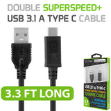 Cellet USB 3.1 SuperSpeed/ Gen 2 to Reversible Type-C Cable for Nexus 5X, Nexus 6P, Nokia Lumia 950/950 XL, OnePlus 2, Nokia N1, LG G5, HTC 10, Samsung Galaxy Note 7 - Mobile Accessories USA