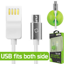 Cellet 4 Feet USB 2.0 Type-A to Micro-USB B Data and Charging Cable (Cable Holder Included) - Mobile Accessories USA