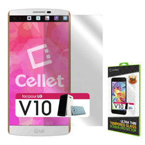 Cellet Premium Tempered Glass Screen Protector for LG V10 (0.3mm) - Mobile Accessories USA