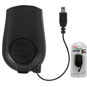 Cellet MINI USB Black Retractable Travel Charger FOR GoPRO, All GPS, DIGITAL CAMERA, ETC. - Mobile Accessories USA