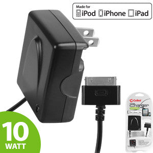 Cellet Apple Licensed High Powered 10Watt (2.1Amp) Home and Travel Charger for iPad 1/2/ 3,iPhone 3/3GS/4/4S , iPod Touch, iPod Shuffle - Mobile Accessories USA