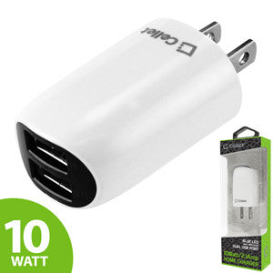 Cellet 10 Watt/2.1 Amp Dual USB Home Charger (Cable Sold Separately) - White - Mobile Accessories USA