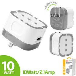 RUIZ by Cellet High Powered 2.1A (10W) USB Home Wall Charger-White - Mobile Accessories USA