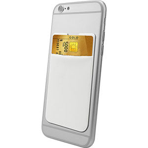 Cellet EZStick Universal ID/Credit Card Holder for Smartphones-White - Mobile Accessories USA