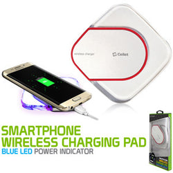 Wireless Charging Pad, Cellet LED Wireless Charging Pad - White - Mobile Accessories USA