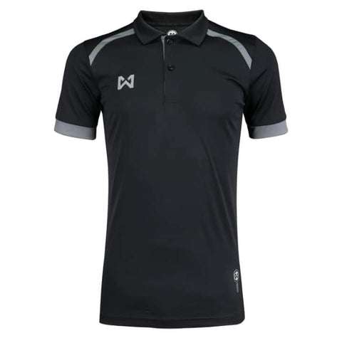 Warrix Prisca Polo - Black - thaifutbol
