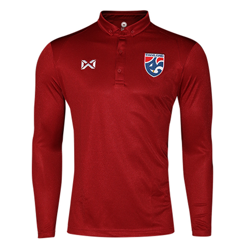 Thailand National Team U23 Jersey 2018 Long sleeve - Red - thaifutbol
