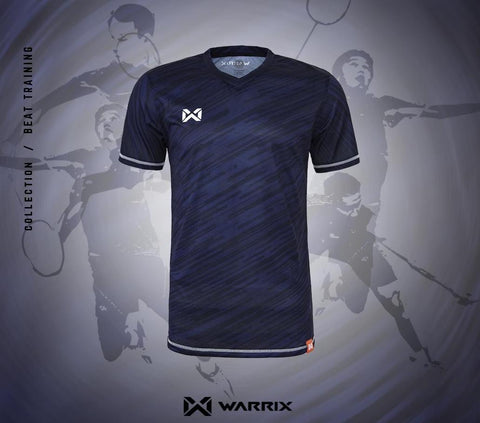 Warrix Badminton Shirt - Dark blue - thaifutbol