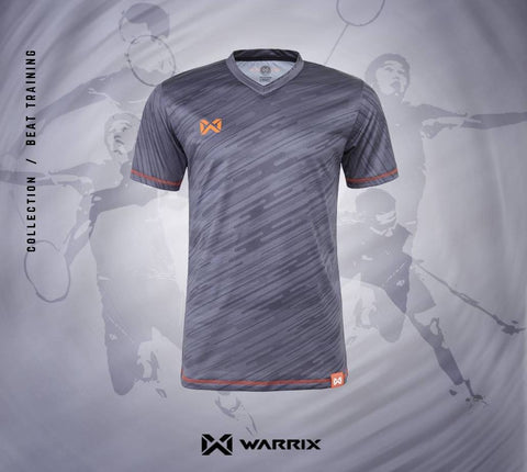 Warrix Badminton Shirt - Dark Grey - thaifutbol