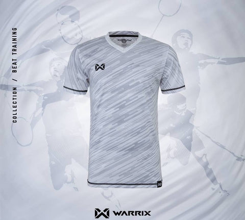 Warrix Badminton Shirt - Light Grey - thaifutbol