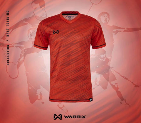 Warrix Badminton Shirt - Red - thaifutbol