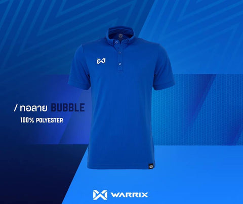 Warrix Polo Shirt Bubble Series  - Blue - thaifutbol