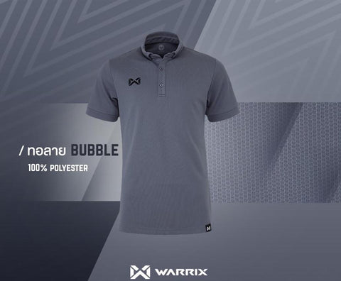 Warrix Polo Shirt Bubble Series  - Grey - thaifutbol