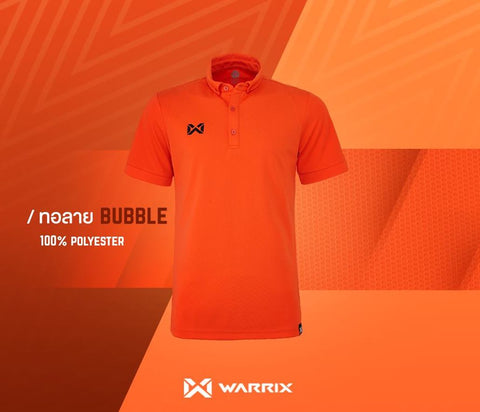 Warrix Polo Shirt Bubble Series  - Orange - thaifutbol