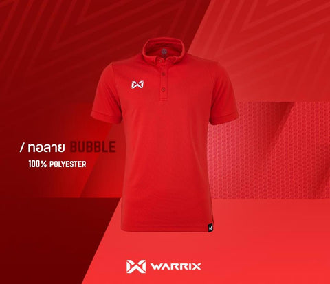 Warrix Polo Shirt Bubble Series  - Red - thaifutbol