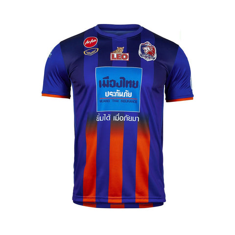 Thai Port F.C. Home Kit 2019 - Blue/Orange - thaifutbol