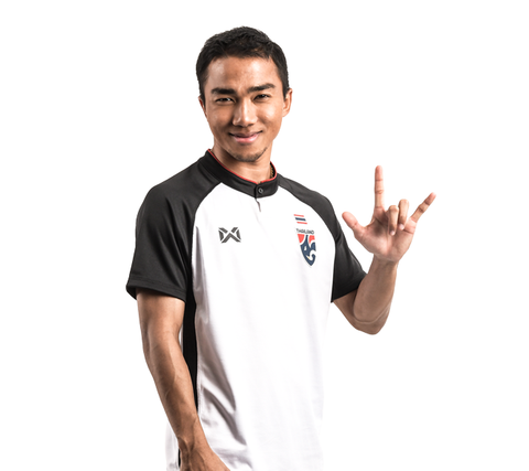 [SALE] Thailand National Soccer Team Third Kit 2018 - White - thaifutbol